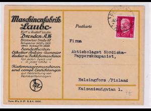 DR. Reklamekarte, Maschinenfabrik Laube, Dresden