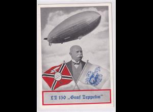 Zeppelin Ansichtskarte Landungsfahrt des Graf Zeppelin LZ 130 mit Sonderstempel