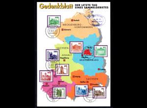 DDR - Gedenktblatt, Der letzte Tag eines Sammelgebietes 1991