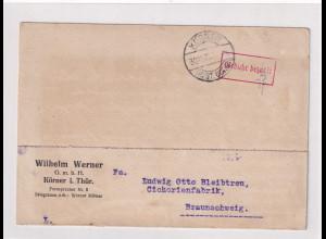 DR, Fern-Postkarte mit Gebühr bezahlt Körner