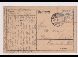 DR, Fern-Postkarte mit Gebühr bezahlt aus Bockenem
