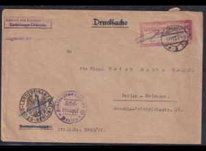 DR., Ortsbrief aus Berlin mit Gebühr bezahlt