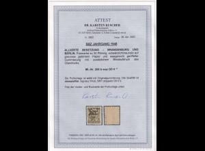 SBZ- 1948, Mi.-Nr.206 b waz DD II, postfrisch, FA. RuscherBPP