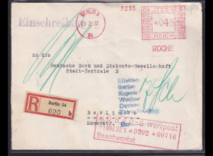 DR. Reklame-Brief, mit Freistempel P.Hoffman-La Roche Chemische Fabrik Berlin