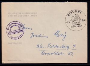 DR. Reklame-Brief, Projektierungsbüro der Deutschen Post