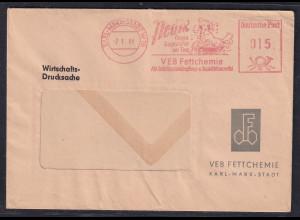 DR. Reklame-Brief, mit Freistempel VBB Fettchemie Karl-Max-Stadt