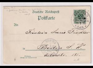 DR, Berliner Gewerbe-Ausstellung Offizielle Postkarte 1896, gestempelt