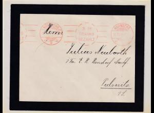 DR. Fernbrief aus Nürnberg 1914 mit Franko-bezahlt