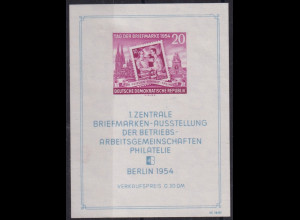 DDR, Mi.-Nr. Bl.10 XII PF II postfrisch, Kurzbefund Mayer