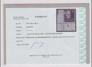 SBZ., Mi.-Nr. 213 c y RL 1 postfrisch, Kurzbefund. Mayer