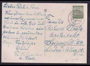 SBZ., Ortskarte mit EF Mi.-Nr. 128 x
