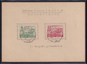 SBZ., Provinz Sachsen Mi.-Nr.85-86 auf Karte.