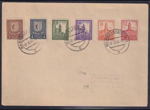 SBZ., Satz-Brief Mi.-Nr. 156-161 x
