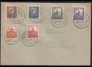 SBZ., Satz-Brief Mi.-Nr. 150 - 155 Y