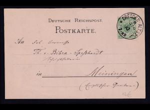 Ansichkarte Dresden Amalien-Hof von 1892