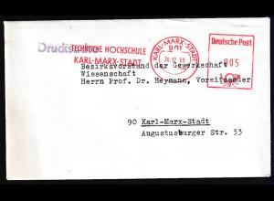 DDR, Drucksache mit Frei-St. TH Karl-Marx-Stadt 1969