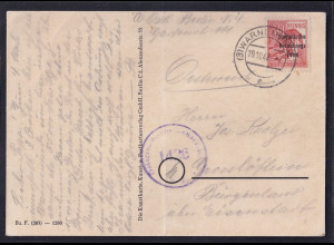 SBZ.,Mi.-Nr. 192 als Ausland-Karte gelaufen, zensiert.