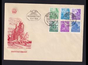 DDR. FDC, Mi.-Nr. 362-379
