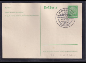 DR., Privatganzsache PP 126-C29/02, Litzmannstadt, gestempelt.