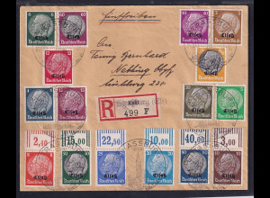 Dt. Besetzung 2. Weltkrieg, Elsass, Mi.-Nr. 1-16 auf R-Satz-Brief.
