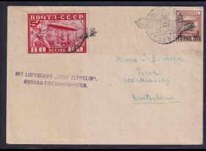 Sowjetunion, Zepp.-Brief mit Mi.-Nr. 391 B u.a.