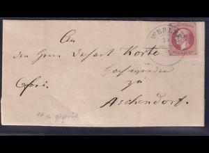 AD. Hannover von Werlte nach Aschendorf mit EF. Mi.-Nr. 14 c, sign. Hoffmann