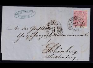 AD. NDP Mi.-Nr. 4 von Lübeck gelaufen mit HE-St.