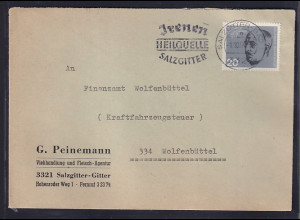 Bund, Fernbrief mit EF. Mi.-Nr. 436 (Marke aus Block 3)