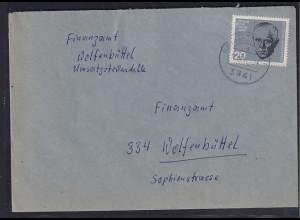 Bund, Fernbrief mit EF. Mi.-Nr. 432 (Marke aus Block 3)