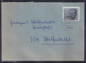 Bund, Fernbrief mit EF. Mi.-Nr. 433 (Marke aus Block 3)