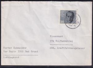 Bund, Fernbrief mit EF. Mi.-Nr. 437 (Marke aus Block 3)