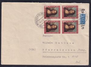 Bund, Fernbrief mit MeF. Mi.-Nr. 148 OR. (4X)