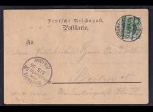 Ansichtkarte-Vorläufer , Schloss Wartburg, Eisenach 1896 gelaufen.
