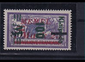 Memel, Mi.-Nr.164 III K, ungebraucht. Kurzbefund. Haslau