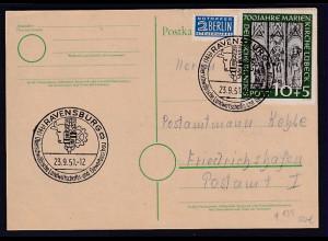 Bund, Fern-Karte mit EF. Mi.-Nr.139