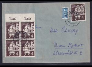 Bund, Fern-Brief mit MeF. Mi.-Nr.198 (5X) 2x OR.