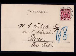 Ansichtskarte, Helgoland 1895, Janssens Hotel und Restaurant