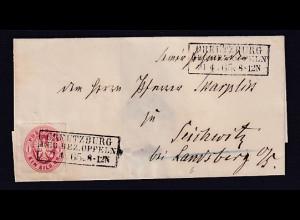 AD.Preussen EF Mi-Nr. 16 Von Creutzburg Regierungsbezirk Oppeln 21.4.1865
