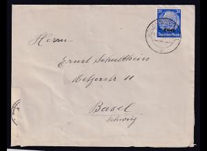Dt. Besetzung 2. Weltkrieg, Elsaß, Ausland-Brief EF. Mi.-Nr. 10, Zensiert