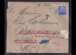 Dt. Besetzung 2. Weltkrieg, Elsaß, Ausland-Brief EF. Mi.-Nr. 10, Zensiert.