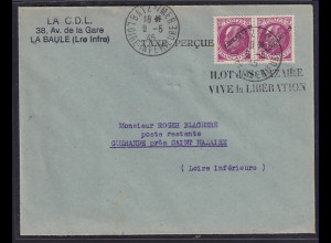 Dt.Besetzung 2.Weltkrieg Frankreich, MeF. auf Befreiungsbrief