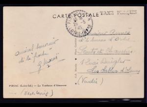 Dt.Besetzung 2.Weltkrieg Frankreich,Fernkarte mit Tax Perque 26.05.45
