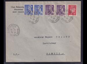 Dt.Besetzung 2.Weltkrieg Frankreich, St-Nazaire Befreierungsbrief