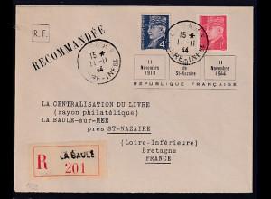 Dt.Besetzung 2.Weltkrieg Frankreich, St-Nazaire, R-Fernbrief