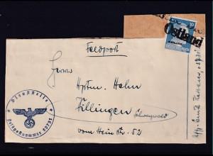 Feldpost, Päckchendienst mit Zulassungsmarke Ostland Front-Heimat