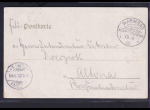 Deutsche Kolonie, Deutsch Südwestafrika, Feldpostkarte aus Warmbad