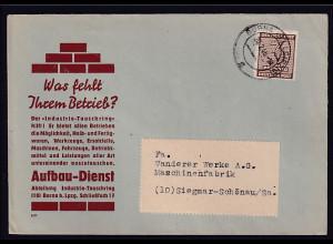 SBZ., West-Sachsen Reklame-Fernbrief mit EF.Mi.-Nr. 126