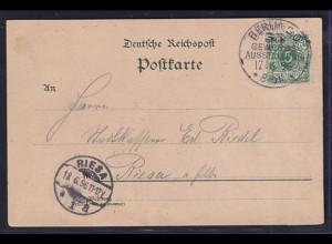 DR. Fernpostkarte aus Berliner Gewerbe Ausstellung 1896