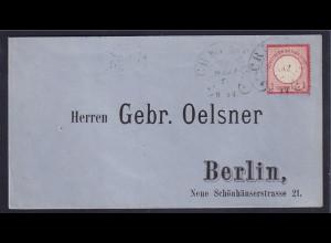 DR., Fernbrief Mi.-Nr. 4 mit HE-St. Crefeld (Spalink 6-6)