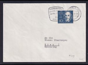 Bund, Auslandbrief mit EF. Mi.-Nr. 319